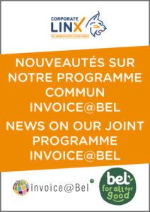 Nouveautés sur notre programme commun Invoice@bel - News on our joint programme Invoice@bel